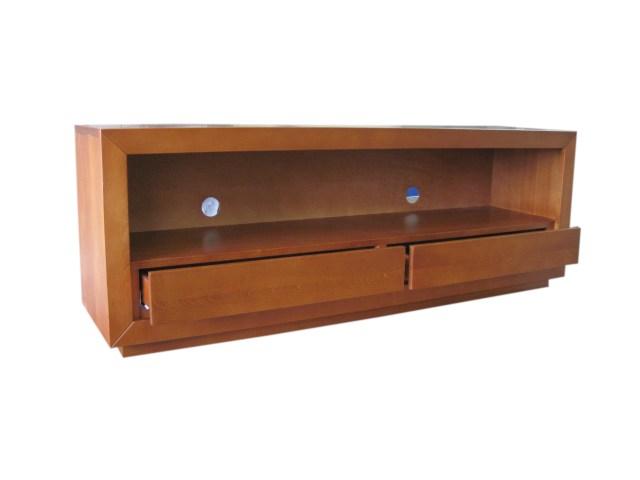 RTV komoda drewniana dwie szuflady