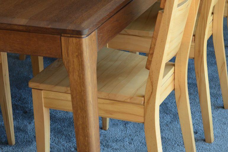 stół lity dąb krzesła buk twardzielowy