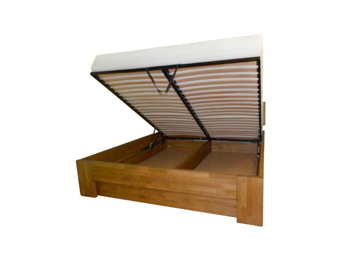 Łóżko drewniane bukowe ze skrzynią