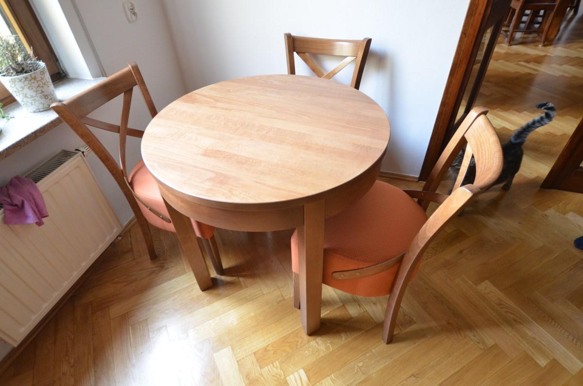 Mały stół do kuchni średnica 70cm