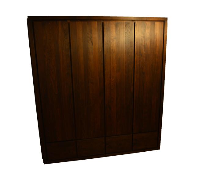 duża szafa bukowa z szufladami