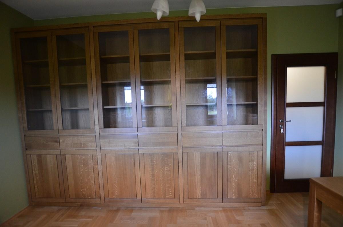 biblioteka drewno bukowe