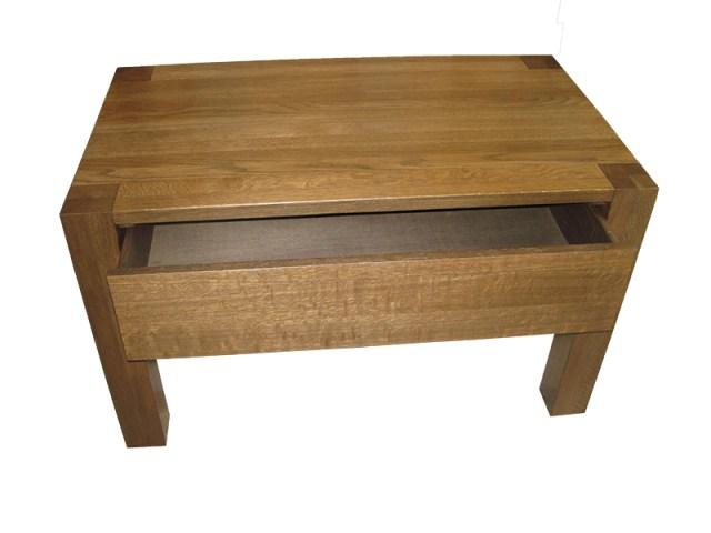 dębowy stolik kawowy s1 z szufladą