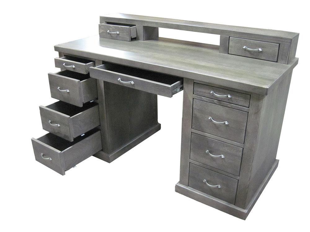 biurko bukowe z nadstawką