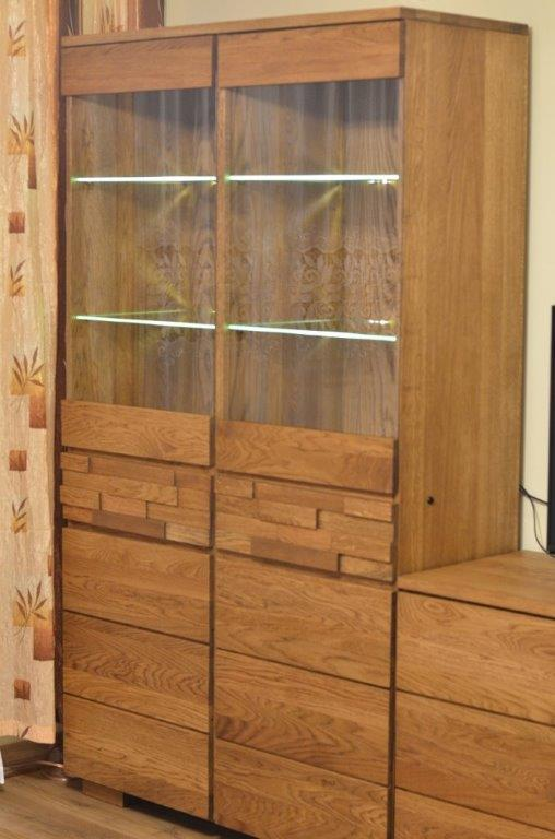 witryna z drewna dębowego