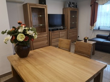 jadalnia i salon drewno dębowe