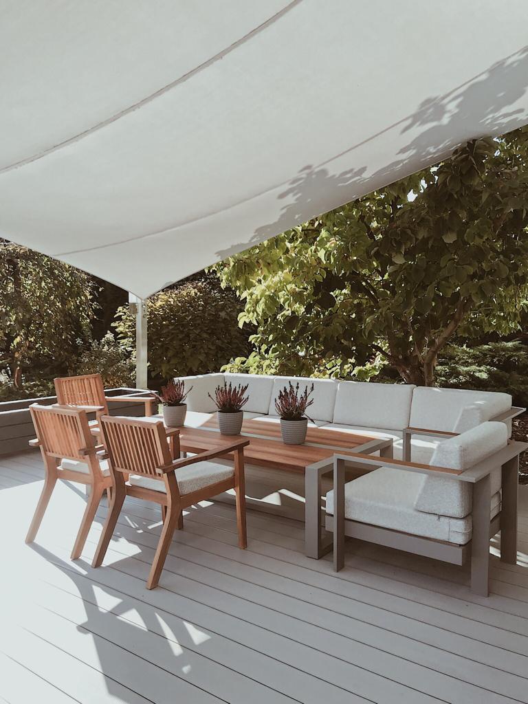meble ogrodowe- komplet wypoczynkowy