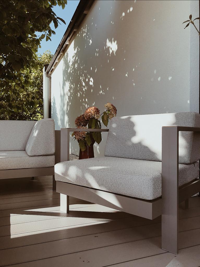 fotel aluminium tarasowy