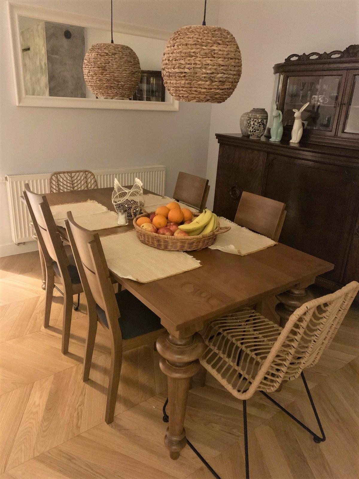stół bukowy kolor rustikal