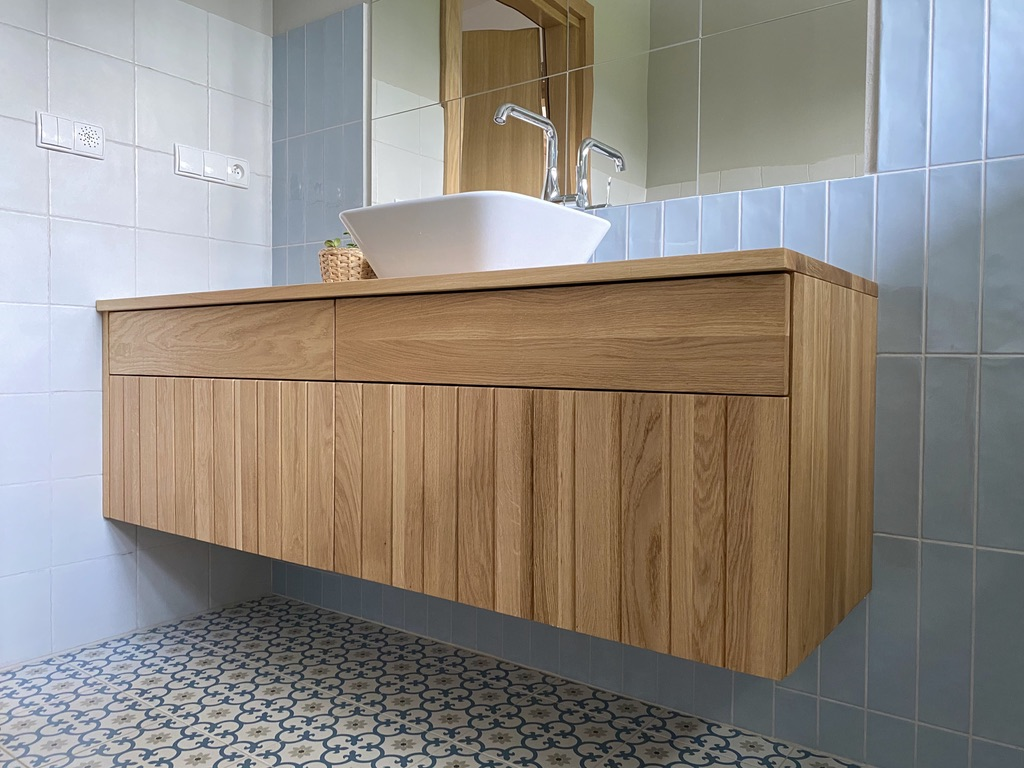 łazienka-drewno-dębowe