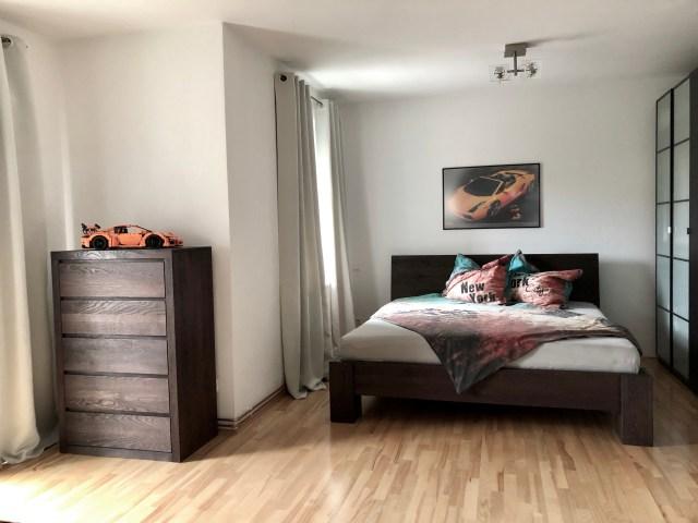 sypialnia meble dębowe kolor orzech