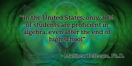 In the U.S. only 30% of students are proficient in algebra