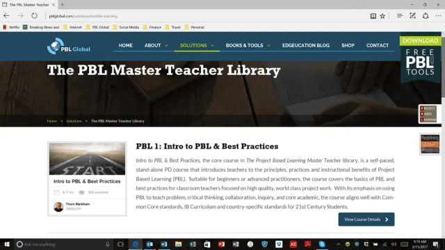 PBL Master Teacher Library