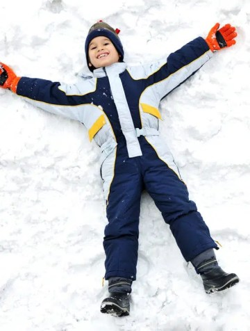 Happy kid on snow