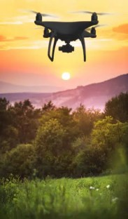 Drone in the Appalachian mountains