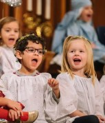 kids singing in a play