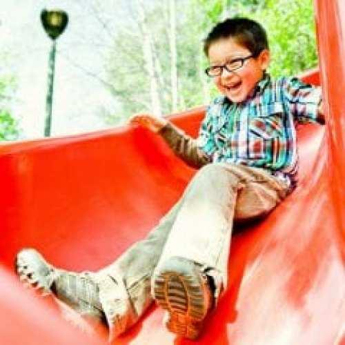 kid red slide