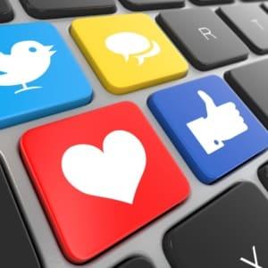 keyboard social media