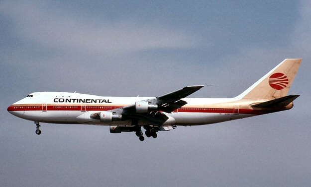 Continental Airlines Boeing 747