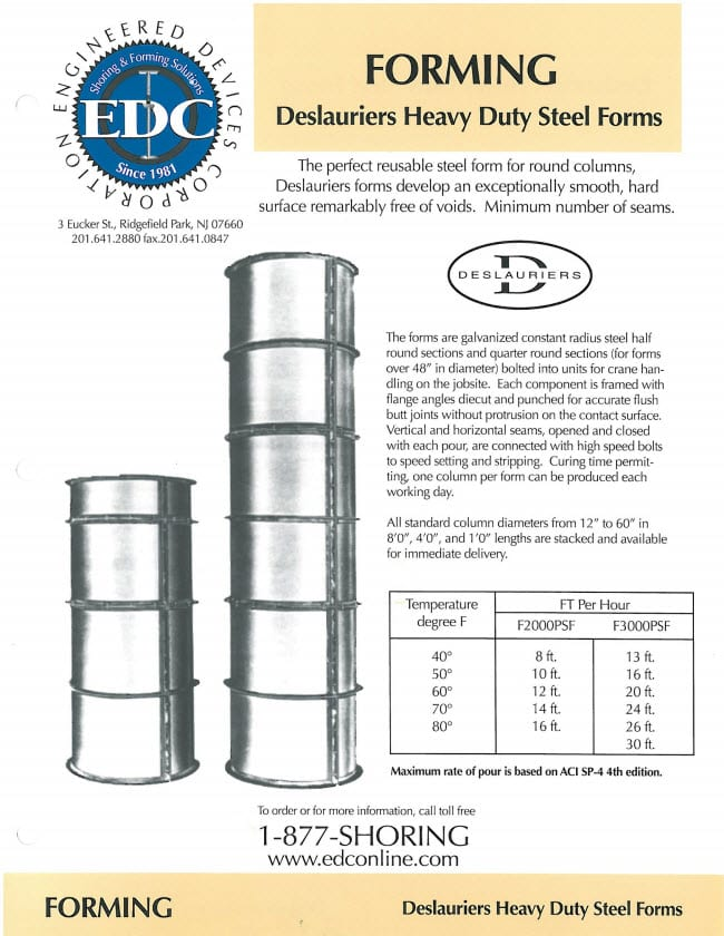 heavy duty steel forms