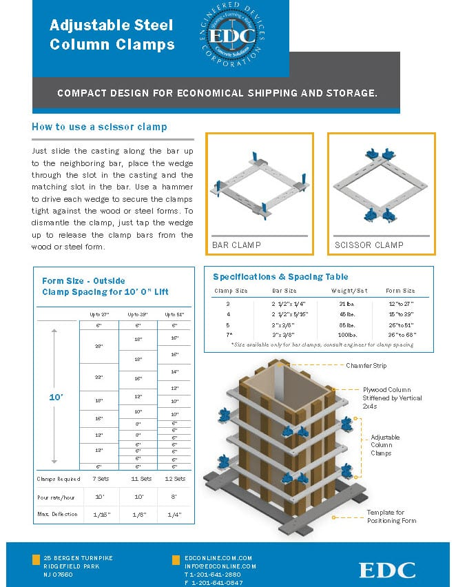 steel column clamps