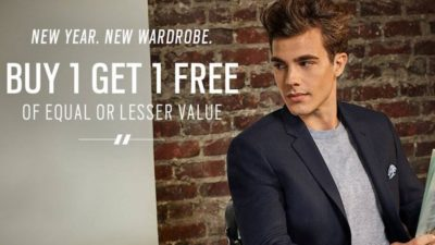 Buy 1 Get 1 Free Casual Wear at Men's Wearhouse.