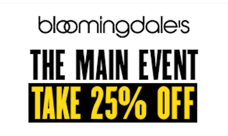 25% off Bloomingdales coupon