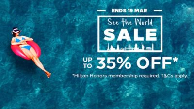 35% Off SALE at Hilton Hotels in Asia Pacific