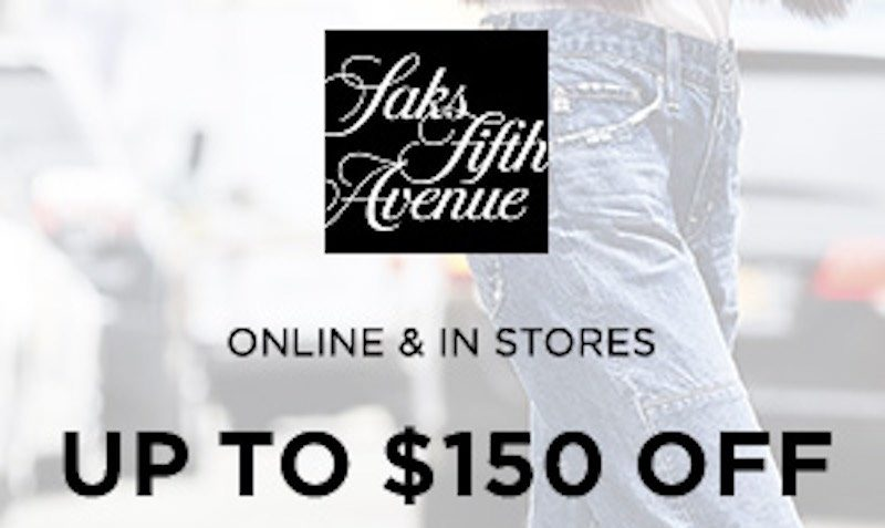 Upto $150 Women's Denim Coupon at Saks Fifth Avenue