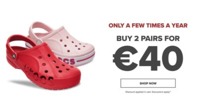 Buy 2 Pairs For €40 At Crocs