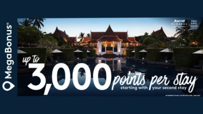 Upto 3000 MegaBonus Points at Marriott Hotels