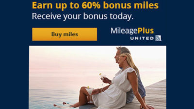 60% bonus miles united points.com