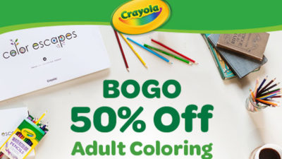 BOGO 50% Off Adult Coloring at Crayola