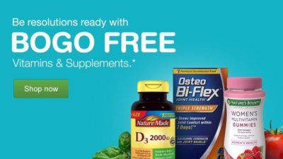 Buy 1 Get 1 FREE on Vitamins & Supplements at Walgreens
