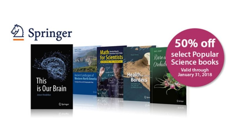 Enjoy 50% off select Popular Science books—valid through January 31, 2018.
