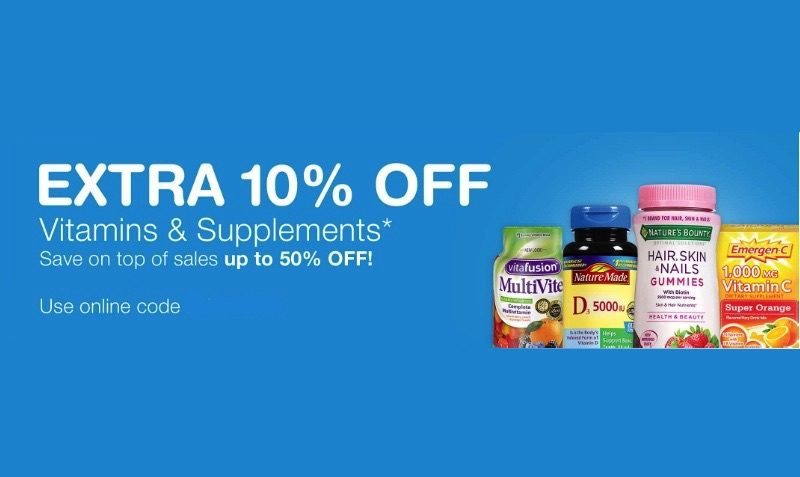 Extra 10% OFF Vitamins & Supplements Coupon at Walgreens