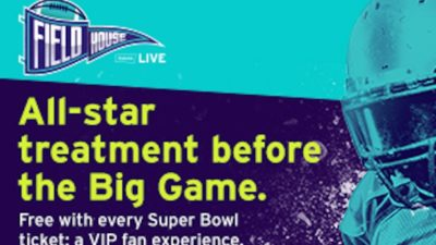 FREE The StubHub Live- Field House Access with Super Bowl LII Purchases at StubHub