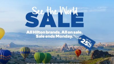Save up to 25% off Hilton Hotels when booking between March 13th and March 19th. The sale is extended across EMEA.