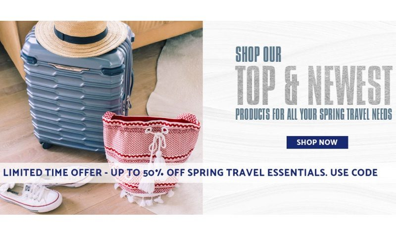 Up to 50% Off Spring Travel Essentials