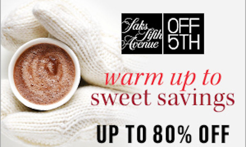 Upto 80% OFF Promo Code on at OFF5th Saks Fifth Avenue