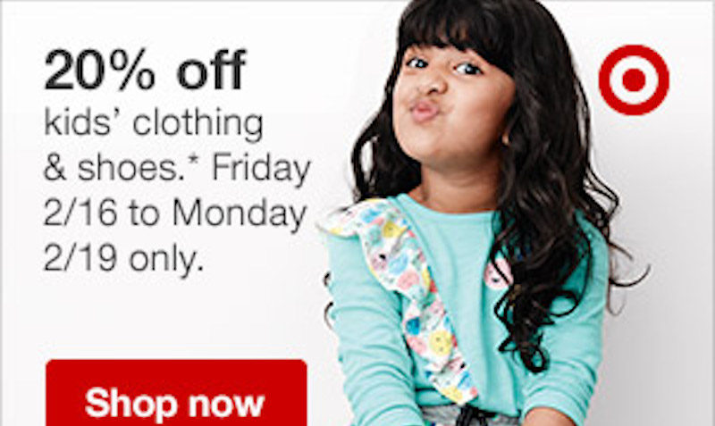 20% Off SALE on Kids Clothing at Target