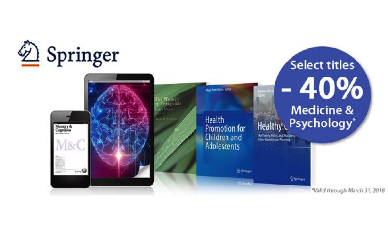 40% Off SALE on Medicine & Psychology Books at Springer Shop