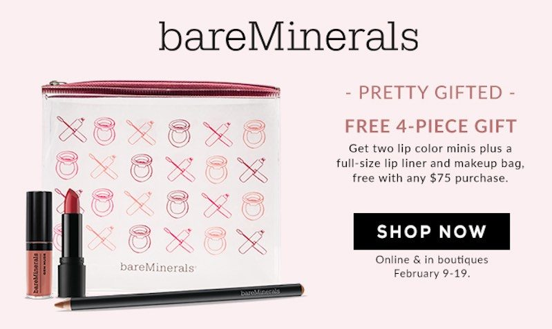FREE 4-Piece Gift with Purchases at bareMinerals
