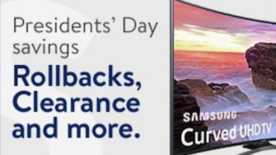 Presidents' Day Starts 2:15 at Walmart.com!