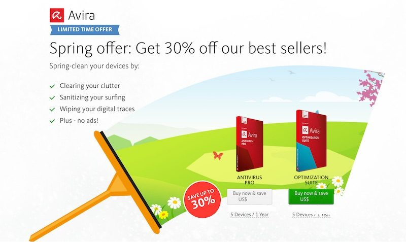 avira 30% off sale
