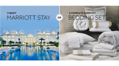 WIN 3 Night Marriott Stay OR Marriott Bed with Marriott Sweepstakes
