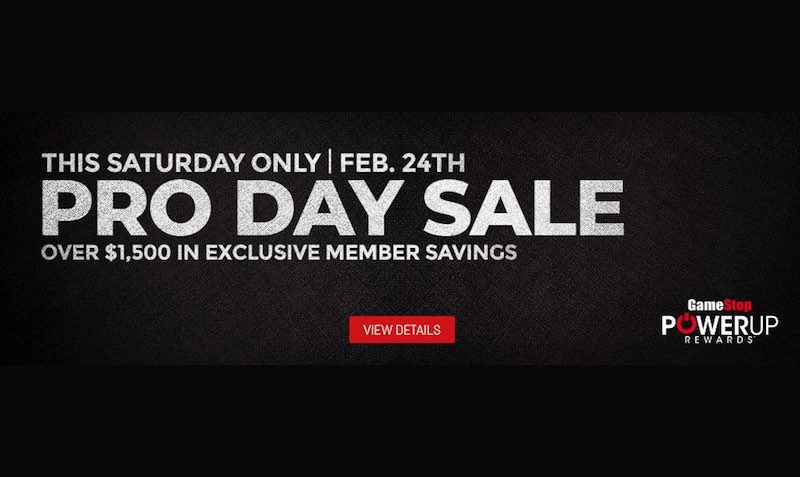 proday sale gamestop discount