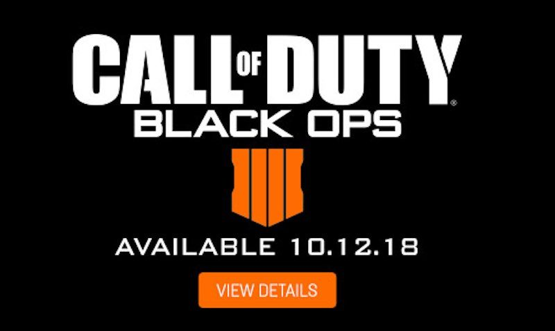 Call of Duty Black Ops 4 available for pre-order at Gamestop.com.