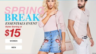 Guess Factory Spring Break Event