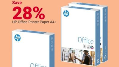HP Office Printer Paper A4, only £2.99: ream viking